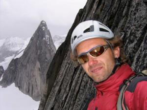Miki Knizka heli-skiing